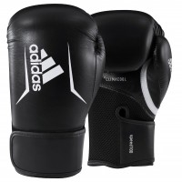 ADIDAS ADULT SPEED 100 BOXING GLOVES B&W