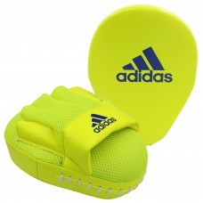 ADIDAS SPEED MESH FOCUS MITTS (PAIR) SOLAR YELLOW/DARK BLUE
