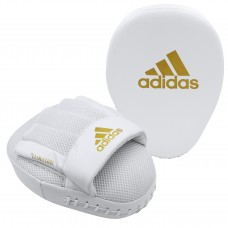 ADIDAS SPEED MESH FOCUS MITTS (PAIR) WHITE/GOLD