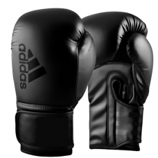 ADIDAS HYBRID 80 BOXING GLOVES BLACK/BLACK