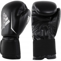 ADIDAS ADULT SPEED 50 BOXING GLOVES BLACK/WHITE