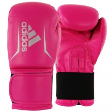 ADIDAS ADULT SPEED 50 BOXING GLOVES SHOCK PINK / SILVER