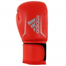 ADIDAS ADULT SPEED 50 BOXING GLOVES SOLAR RED/SILVER