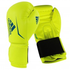 ADIDAS ADULT SPEED 50 BOXING GLOVES SOLAR YELLOW/BLUE
