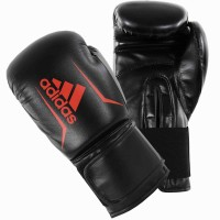 ADIDAS ADULT SPEED BOXING GLOVES BLACK/SOLAR RED