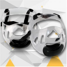 Removable helmet face mask for martial arts