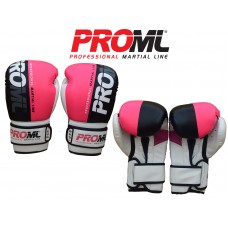 BOXING GLOVES PUNCH BAG TRAINING PRO ML PINK/WHITE