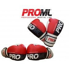 BOXING GLOVES PUNCH BAG TRAINING PRO ML RED/BLACK