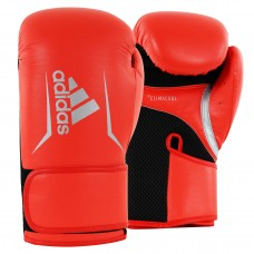 ADIDAS ADULT SPEED 100 BOXING GLOVES SOLAR RED/SILVER